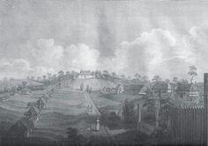 Governor Arthur Phillip's cottage in Parramatta in the 1790s.A♥W