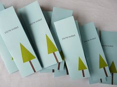 Simple invitations for a Christmas Party.