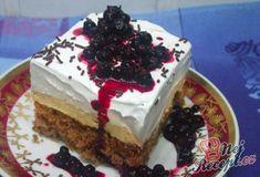 Neodolatelný karamelový zákusek   NejRecept.cz Al Fresco Dining, Confectionery, Cakes And More, Tiramisu, Sweet Tooth, Cheesecake, Food And Drink, Sweets, Cream