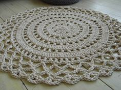 Crochet Rope Giant Doily Rug 100 Cotton by KnitJoys on Etsy,