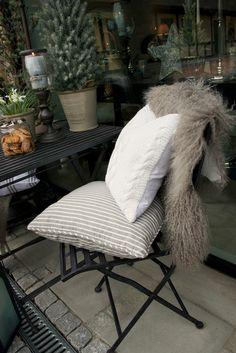 Lene Bjerre – AUTUMN 2013. MIE and LAURA cushions and MONGOLIAN lambskin.