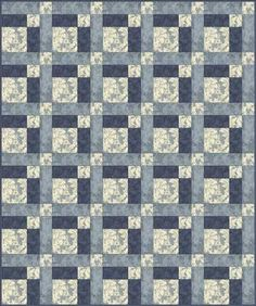 Easy Hopscotch Quilt.  Maybe for my mom?