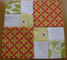 Possible quilt pattern for new babies.