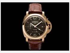 Panerai - Luminor 1950 8 Days GMT, ref.PAM289 - Manual-winding, cal.P2002/1, 4Hz, 8dd p.r., second time zone, power reserve indicator, date - 44mm, pink gold case, brown dial ~20k