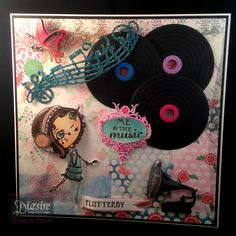 Angela O'Donoghue - Verity Rose CD - Flutterby - Paper pad, Stamps and Matching dies, Flutterby stamp set, Official frame die, Matt Black card, Collall Tacky Glue, Collall All Purpose Glue, Collall 3D Glue Gel, Spectrum Noir Pens:,FS2,  FS6 - Vinyl - Essentials Circle dies - #crafterscompanion #spectrumnoir