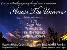 Come on a Beatlesque journey through music & movement Across the Universe  - featuring performances by  FEVI, Clayton Frick, Vanessa Forbes, Peter Miller Robinson, Morgan & Magdalene $10 Donation entry – Magnolia Healing Centre – Cnr Old South Head & Dover Rds, Rose Bay