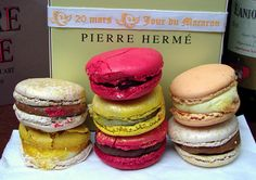 """Ladurée macarons not only appeared in the Gossip Girl macarons Pierre Hermé (www.pierreherme.com/) were also part of the show at ep 2x25 the famous """"I love you too."""" chuck Blar where he brought to every corner of Europe that had been a gift to Blair and Pierre Hermé macarons Paris were among them."""