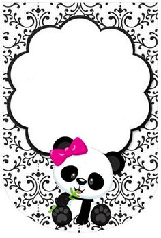 Please join us in welcoming baby PANDA Panda Themed Party, Panda Birthday Party, Bear Party, Ep1 Cap Petite Enfance, Panda Decorations, Panda Baby Showers, Diy And Crafts, Crafts For Kids, Panda Art