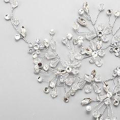 Mujer Niña de flor Diamantes Sintéticos Cristal Aleación Celada-Boda Ocasión especial Bandas de cabeza 1 Pieza 4989280 2017 – $19.99