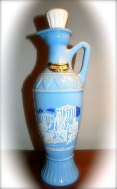 Vintage 1961 Jim Beam Grecian Series Decanter Blue by TheRealDelia, $16.00