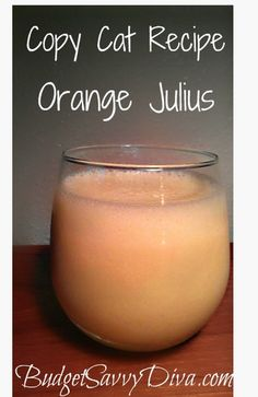 Copy Cat Recipe -Orange Julius