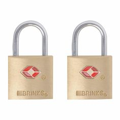 Brinks TSA Approved Luggage Lock Solid Brass, Lock body is solid brass 2 Pack, keyed alike Accepted by TSA Travel Sentry Approved Lifetime Warranty Best Luggage, Travel Luggage, Brass Music, Gun Cases, Computer Bags, Chrome Plating, Travel Accessories, Solid Brass, Ebay