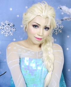 """Channel the """"Frozen"""" Ice Queen with this Elsa makeup tutorial. To be honest, we just want a reason to ask if people want to build a snowman. #halloween #elsa #frozen"""