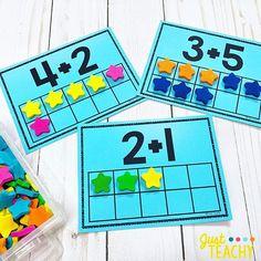Top 40 Examples for Handmade Paper Events - Everything About Kindergarten Kindergarten Math Activities, Preschool Math, Kindergarten Classroom, Kindergarten Addition, Math Addition, Addition Activities, Vampire, Math Workshop, Math For Kids