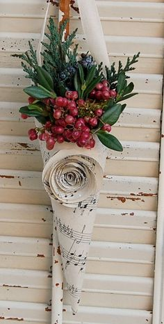 Repurposing items you already own is so much fine. Great idea, especially if the paper is a Christmas song.