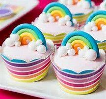 Rainbow Cupcakes from a Teenage Dream Rainbow Sweet 16 Party on The Tom Kat Studio . Rainbow Cupcakes, Rainbow Food, Cute Cupcakes, Party Cupcakes, Fondant Rainbow, Themed Cupcakes, Rainbow Art, Birthday Cupcakes, Mini Cakes