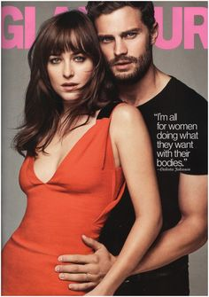 Jamie Dornan Joins Fifty Shades of Grey Co star Dakota Johnson for Glamour March 2015 Cover Shoot