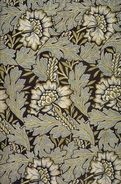 'Anemone' Jacquard-woven silk and wool or silk damask fabric designed by William Morris Identification from Linda Parry: William Morris Textiles, New York, Viking Press. William Morris Patterns, William Morris Art, Motifs Art Nouveau, Motifs Textiles, Jugendstil Design, Morris Wallpapers, Stoff Design, Art And Craft Videos, Art And Craft Design