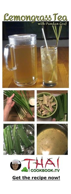 In Thailand we make a delicious sweet tea drink with lemongrass and the leaf of the pandanus tree. The two flavors work very well together to create an authentic Thai flavor and a nice complementary drink to serve with your traditional Thai meal.