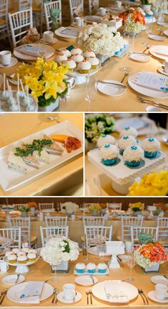 Cheerful and Elegant Baby Shower in Blue, Green, and Orange
