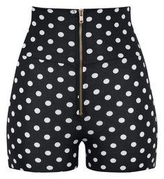High Waisted Polka Dot Shorts