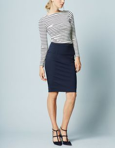 Ponte Pencil Skirt WG646 Pants & Skirts at Boden