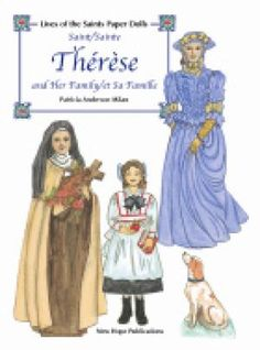st therese coloring page - st therese of lisuiex the little flower animated