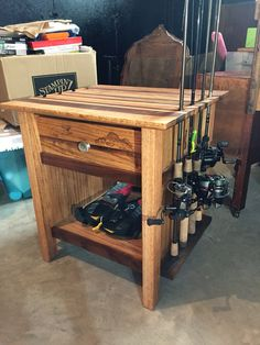 Fishing rod and tackle storage