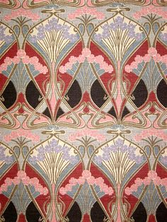 Ianthe Liberty of London vintage sample by retro age vintage fabrics, via Flickr art deco print