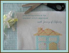 Let me teach you how to prepare a block for blanket stitch applique! http://www.elefantz.com/2013/08/tutorial-blanket-stitch-applique.html