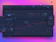 Dashboard designed by uixNinja. Connect with them on Dribbble; the global community for designers and creative professionals. Dashboard Ui, Dashboard Design, Web Design, Site Design, Chart Design, Graphic Design, Page Web, Ui Design Inspiration, Ui Web
