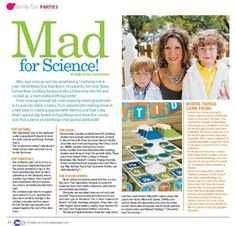 Mad for Science party ideas!