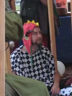 My friend in his jester outfit.