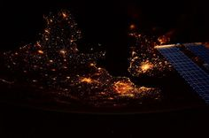 The English Channel by night | International Space Station