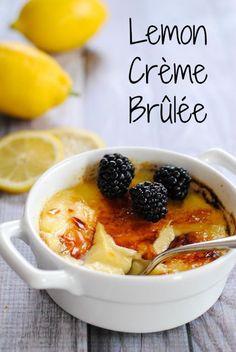 Lemon Crème Brûlée - Rich lemon-infused custard with a torched sugar top.