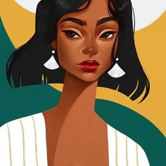 🇨🇦 I just launched my patreon! Become a patron and you'll get tutorials and rewards! I will appreciate your… Black Girl Art, Black Women Art, Art Girl, Photo Portrait, Portrait Art, Illustrations, Illustration Art, Magic Art, Digital Portrait