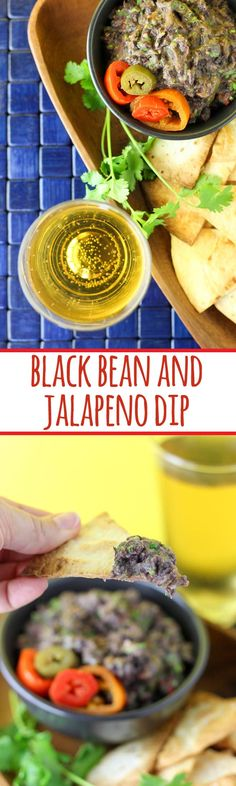 Black bean and jalapeno dip