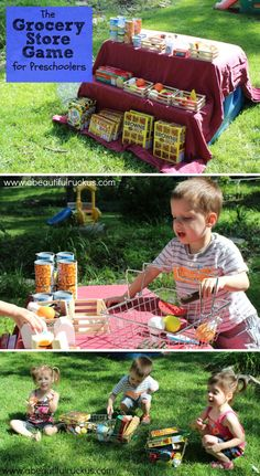 The Grocery Store Game for Preschoolers *Wonderful pretend play invitation