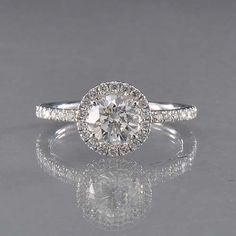 Forevermark The Center of My Universe White Gold Halo Diamond Ring #JRDunn #Jewelry