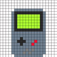 Original Gameboy Fuse Bead bead pattern. Can also be used in cross stitch or crochet