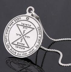 writing Talisman of  Mercury Handmade pewter pendant Artistic flair