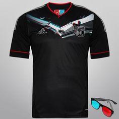 Acabei de visitar o produto Camisa Adidas Lyon Third 3D 12/13 s/nº - Ed. Especial 3D