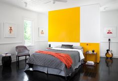 Yellow Room Interior Inspiration: Rooms For Your Viewing Pleasure Colorful Interior Design, Yellow Interior, Room Interior, Colorful Interiors, Home Interior Design, Yellow Gray Bedroom, White Bedroom Design, Yellow Bedrooms, Room Inspiration