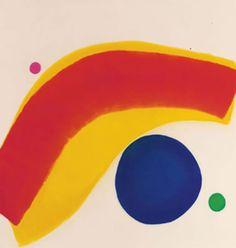 primary colors art by Jules Olitski