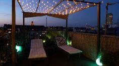 Terassengestaltung: Pavillon auf der Dachterrasse