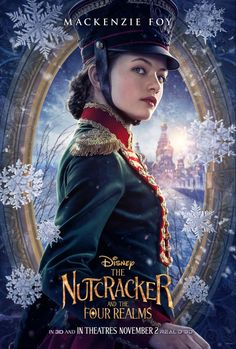 Disney Nutcracker and the Four Realms Character Posters - Mackenzie Foy as Clara Nutcracker Movie, Nutcracker Characters, Movie Characters, Disney Pixar, Disney Films, Disney Live, Walt Disney, Scary Kids, Mackenzie Foy