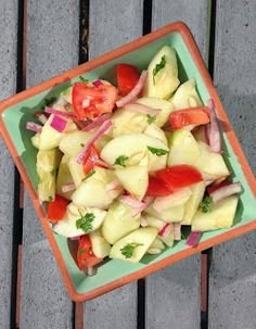 Herbed Cucumber & Tomato Salad - A light and healthy side dish