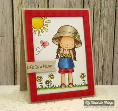 Every Day Is a Picnic, Gingham Background, Pierced Fishtail Flags STAX Die-namics, Rectangle Frames Die-namics - Jackie Pedro #mftstamps