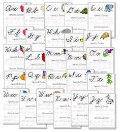 #FREE Printable Cursive Handwriting Worksheets Totally need these for Leylah right about now!! Good thing I got my printer working