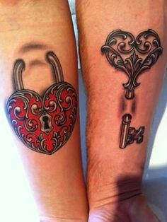 35 Sweet Matching Relationship Tattoo Ideas - Only Love Check more at http://tattoo-journal.com/35-sweet-relationship-tattoos/